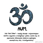 aum om w jodze i medytacji
